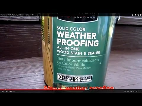 Review Of Behr Premium Solid Color Weather Proofing