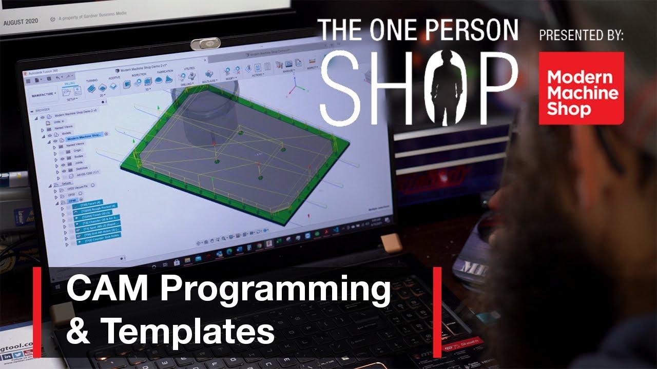 使用CAM模板自动化编程-一人商店#3