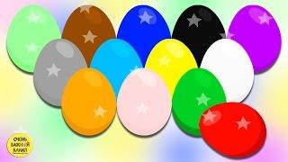 Яйцо с сюрпризом. Учим цвета вместе. Развивающий мультик про цветные яйца с сюрпризами