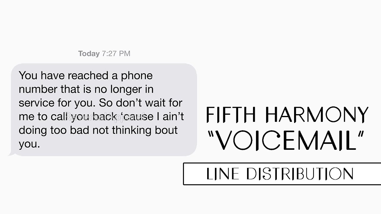 Fifth Harmony - Voicemail ~ Line Distribution
