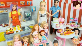 Rapunzel's Daughter Birthday Party at Mc Donalds-  Opens Surprise Gifts - Disney Doll Story