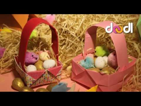 Simple Origami Easter Basket Easy Tutorial Youtube