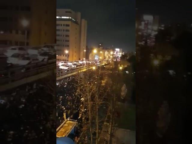 manifestation en Iran contre le régime, le 11 janvier