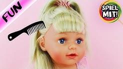 Baby Born Sister wird frisiert | 3 tolle Trend Frisuren für lange Haare mit Interaktiver Puppe