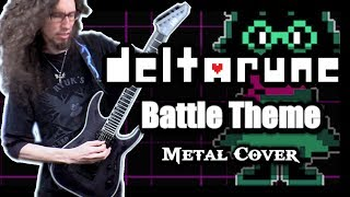 Deltarune BATTLE THEME (Rude Buster) - METAL cover by ToxicxEternity!