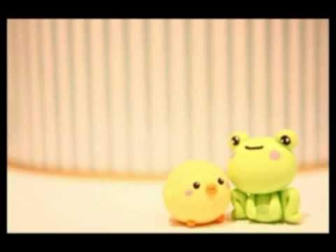 Frog clay charm