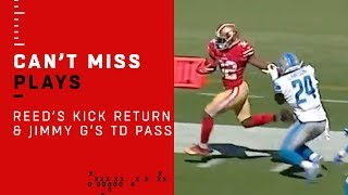 D.J. Reed's Phenomenal Kick Return Sets Up Jimmy Garoppolo's TD Pass