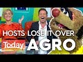 Agro's nude modelling joke has hosts in stitches   Today Show Australia