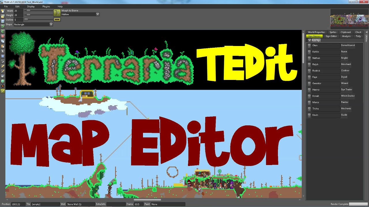 TEdit Tutorial: Terraria Map Viewer/Editor, 1 3 1 PC (with download links!)