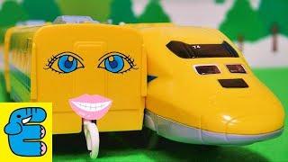 プラレール 923形ドクターイエロー中間車 Plarail Class 923 Doctor Yellow intermediate wheels [English Subs]