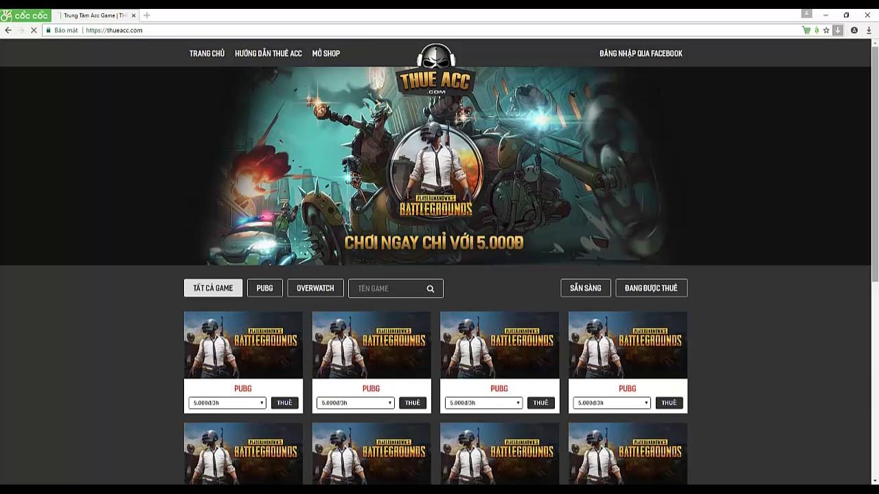 Hướng dẫn thuê acc trên ThueAcc.com