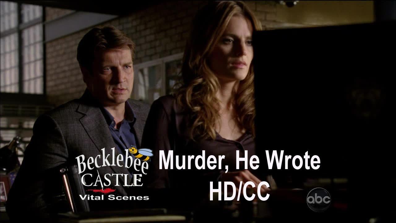 "Download Castle 5x04  ""Murder, He Wrote""  Beckett's  Weekend Trip with Her Boyfriend (HD/CC)"
