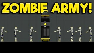 Immortal Zombie Army VS Energy Bomb! - People Playground Gameplay