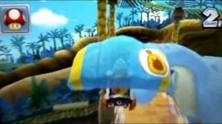 マリオカート7 ディノディノジャングル攻略 mario kart 7.wmv