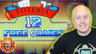 12 FREE GAMES! HIGH LIMIT LOTERIA SLOT MACHINE!🎰 Big Lock It Link Slot Play 🎰
