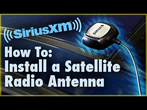 How to Install a Satellite Radio Antenna (Car Stereo) Car Audio