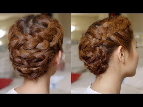 hair tutorial summer braided updo youtube