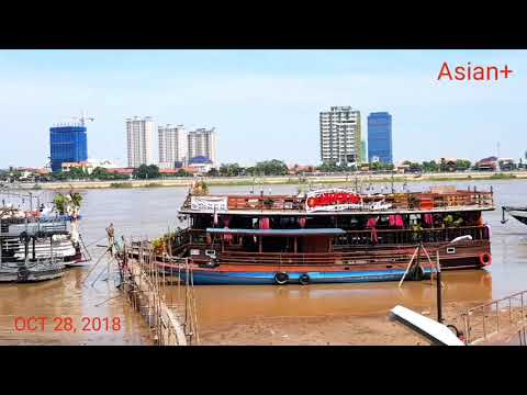 A PORT OF TOURISM BOAT NEAR WAT PHNOM, KINGDOM OF CAMBODIA