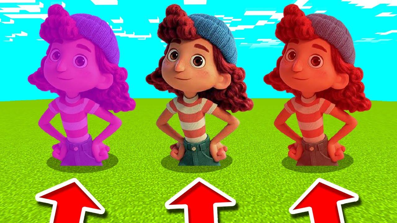 Minecraft PE : DO NOT CHOOSE THE WRONG GIULIA! (Luca, Giulia, Raya, Herobrine & MORE)