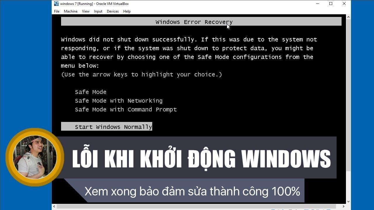 Chu Đặng Phú hướng dẫn SỬA LỖI KHI KHỞI ĐỘNG WINDOWS 7 - How to fix WINDOWS ERROR RECOVERY WIN 7?