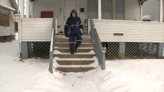 Delivering Mail in a foot of snow in sub-zero temps