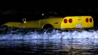 FAIL! Drunk couple drives Yellow Corvette into surf in San Diego, CA