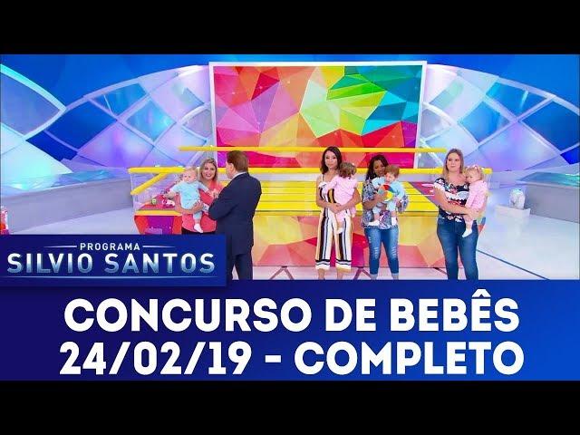 Concurso de bebês | Programa Silvio Santos (24/02/19)