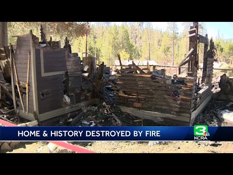 Historic Sierra home destroyed in chimney fire