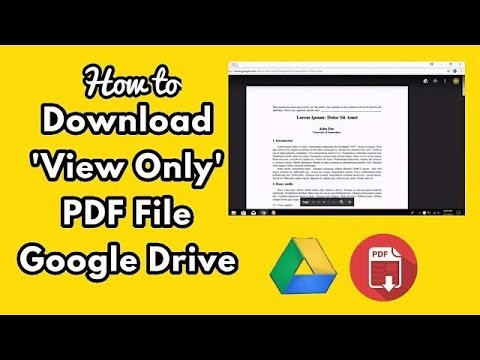 How To Download View Only Pdf Google Drive