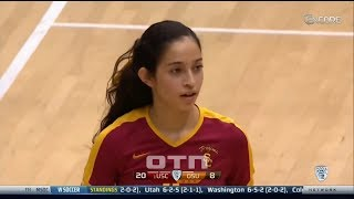 #tb Samantha Bricio (USC) vs Oregon State 131011