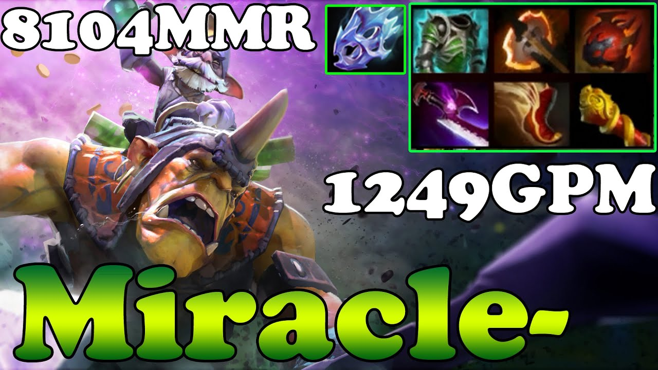dota 2 miracle 8104mmr top 1 mmr in the world plays alchemist