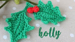 Today I show you how to crochet a holly leaf with berries! An easy project suitable for beginners. This tutorial is part of my countdown to Christmas advent ...