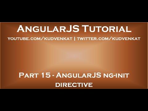 AngularJS ng init directive