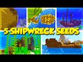 5 SHIPWRECK SEEDS for MINECRAFT 1.13! (Minecraft Update Aquatic Seeds)