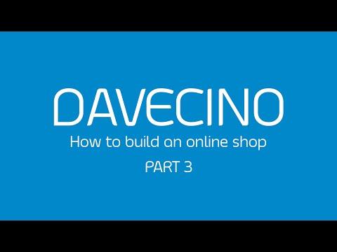 DAVECINO BUILD AN ONLINE SHOP (part3)