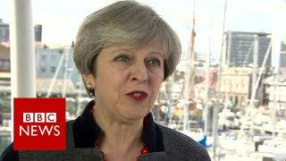 Brexit: Theresa May says she'll be 'bloody difficult' to Juncker - BBC News