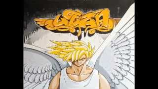 How to draw to paint graffiti letters manga character on canvas by Leza (AOS)