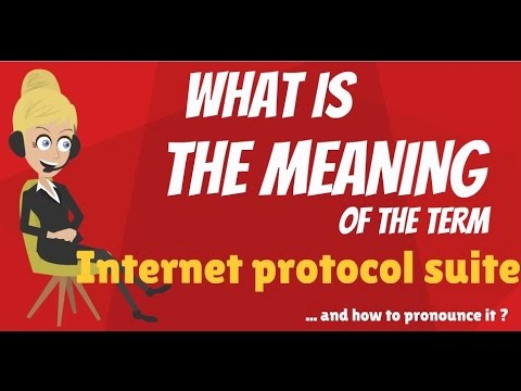 What is INTERNET PROTOCOL SUITE? What does INTERNET PROTOCOL SUITE mean?