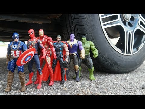CAR VS SPIDERMAN VS IRON MAN VS THOR VS HULK VS CAPTAIN AMERICA VS THANOS