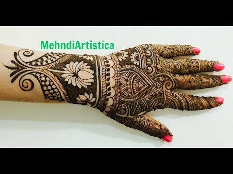 Beautiful Intricate Wedding Full Hand Mehndi Designs:Indian Mehendi Art By MehndiArtistica(Karwa)