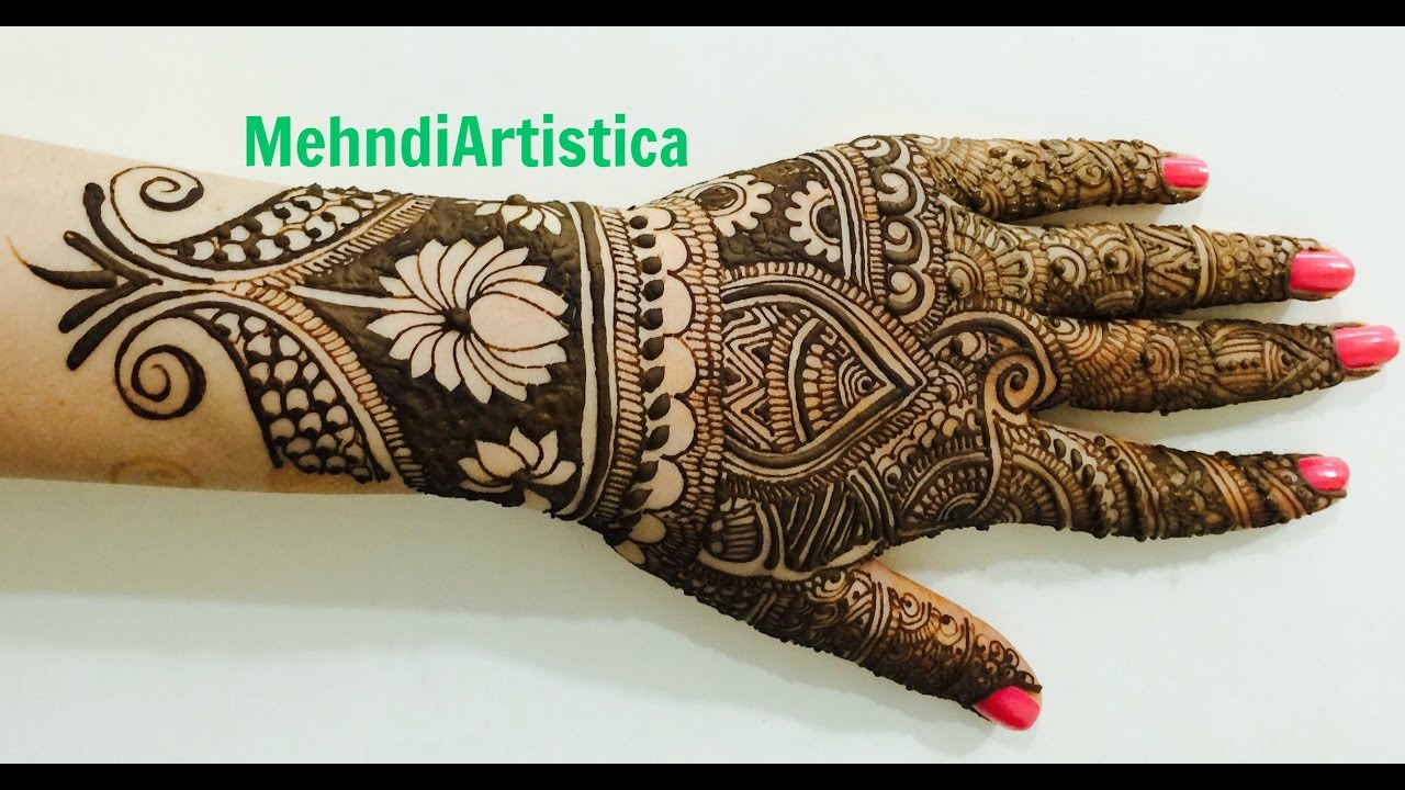 Beautiful Intricate Wedding Full Hand Mehndi DesignsIndian Mehendi Art By  MehndiArtistica(Karwa)