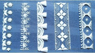Fabulous Hand Embroidery,Fantastic Hand Embroidery border design,border embroidery,सीमा कढ़ाई
