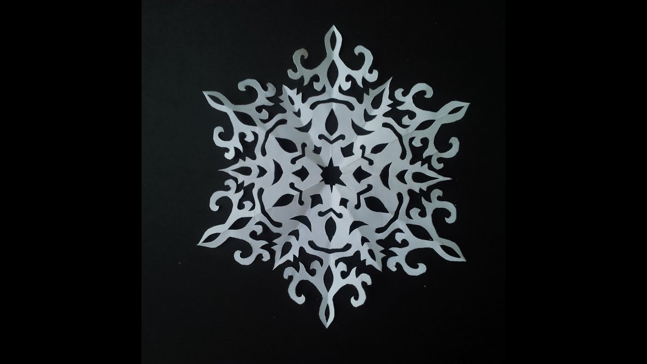 How to make paper snowflake 5 beautiful snowflake for Beautiful paper cutting art
