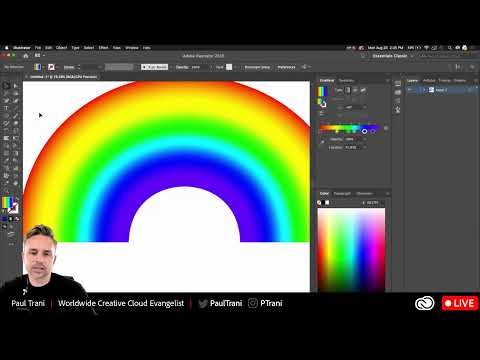 Creating Gradient, Metallic, And Holographic Textures In @Illustrator