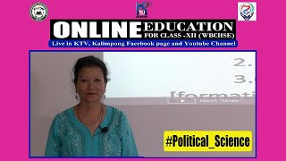 Online Education for Class-XII (WBCHSE).(Episode 76) Subject: #Political_Science