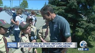 Mark Dantonio helps draw record crowd at Marysville boy scout luncheon