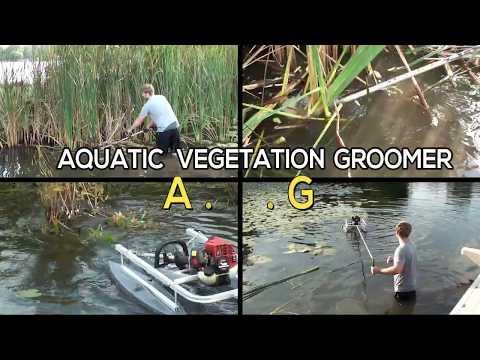 Cattail Lily Pad Reed Aquatic Lake & Pond Weed Cutting Machine (Aquatic Vegetation Groomer)
