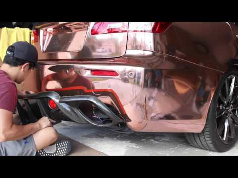 ROSE GOLD CHROME! Reinstalling the WALD Rear Diffuser on my Lexus ISF