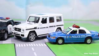 Мультик про машинки - 189 серия:  Авария, Пожарная машина, Гоночная машина, Полиция
