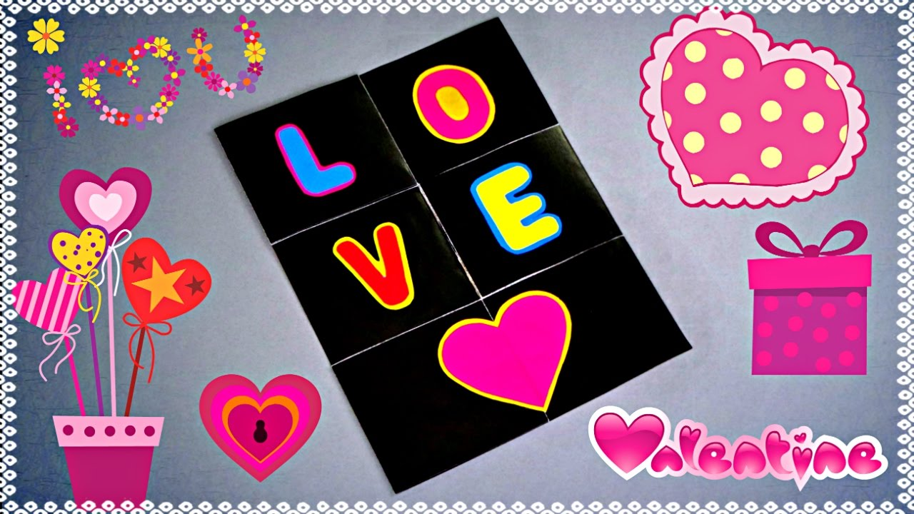 DIY - ENDLESS LOVE CARD - TUTORIAL / VALENTINE CARD MAKING ...